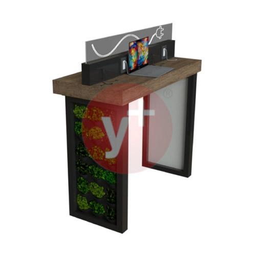 Mesa con Centro de Carga para Dispositivos Móviles