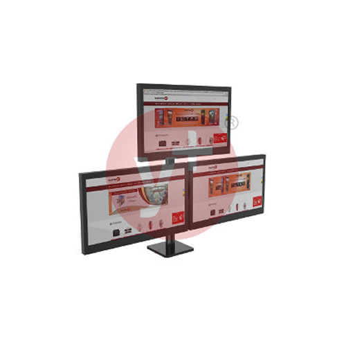 Soporte Ergonómico para 3 Monitores